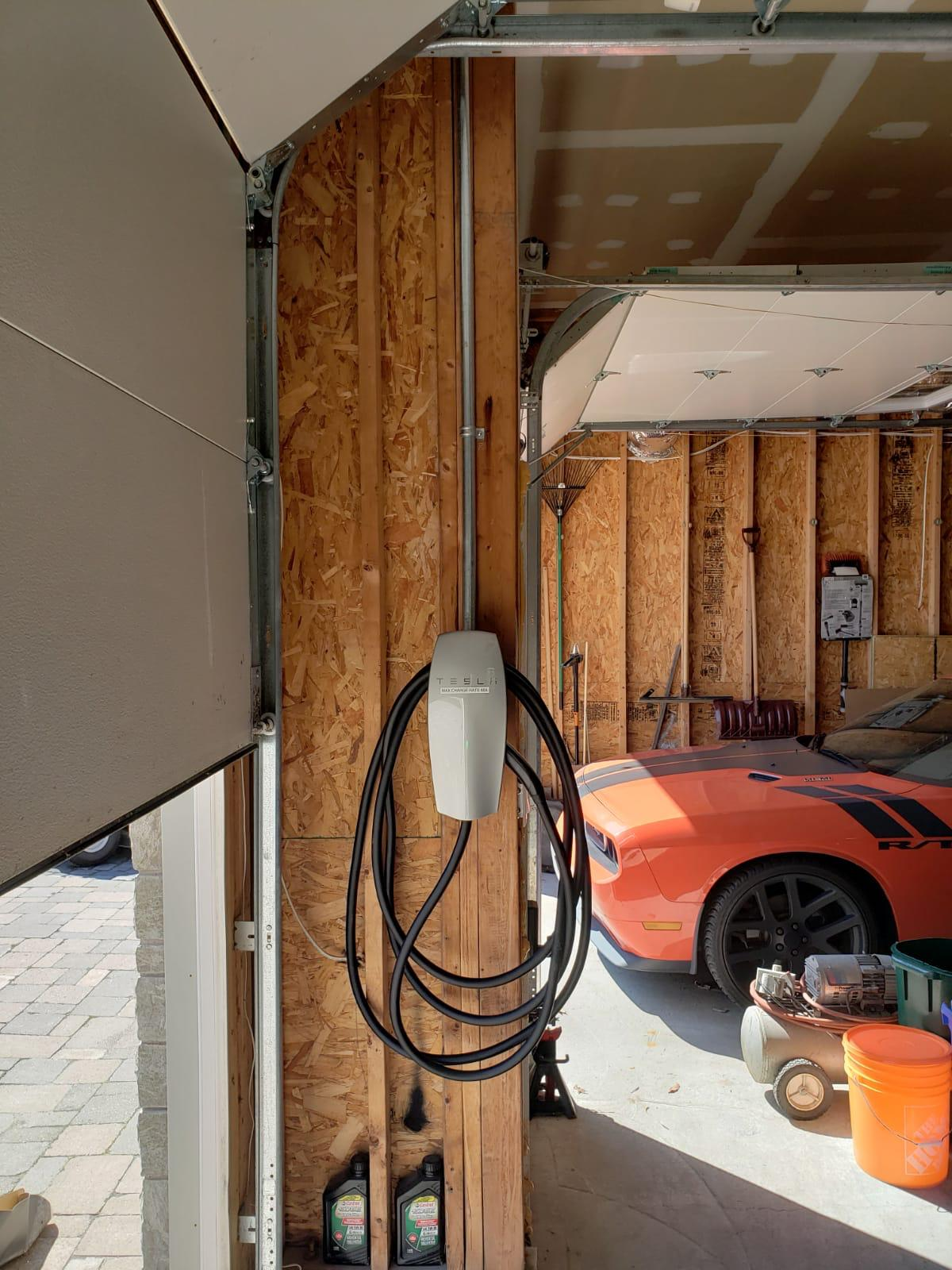 Residential EV Charging Station Project pictures in ontario